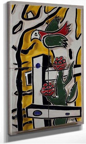 The Bird And Flower 1953 By Fernand Leger