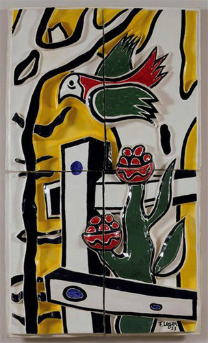 The Bird And Flower 1953 By Fernand Leger Art Reproduction from Wanford