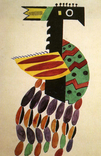The Creation Of The World Bird Drawing Of Costume 1923 By Fernand Leger Art Reproduction from Wanford