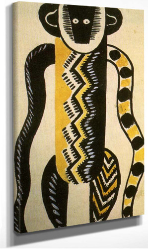 The Creation Of The World Monkey Drawing Of Costume 1923 By Fernand Leger