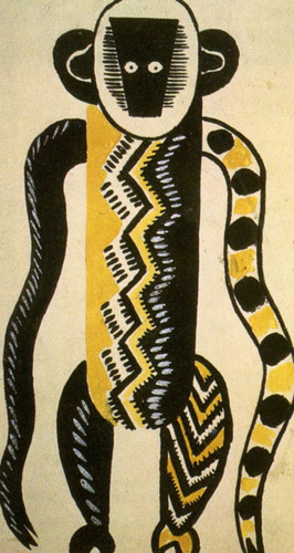The Creation Of The World Monkey Drawing Of Costume 1923 By Fernand Leger Art Reproduction from Wanford