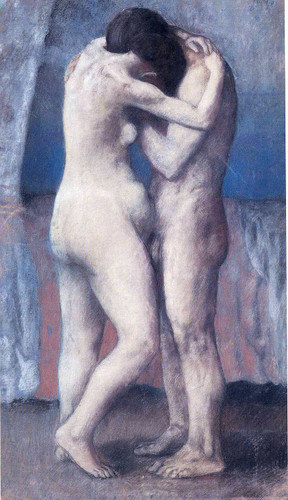The Embrace 1903 By Pablo Picasso Art Reproduction from Wanford