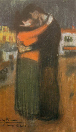 The Embrace In The Street By Pablo Picasso Art Reproduction from Wanford