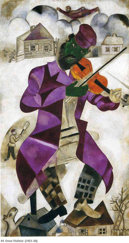 The Green Violinist 1924 By Marc Chagall Art Reproduction from Wanford