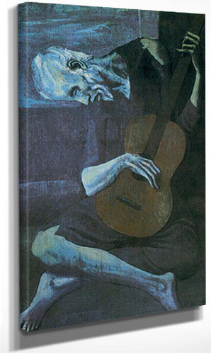 The Old Guitar Player By Pablo Picasso
