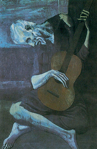 The Old Guitar Player By Pablo Picasso Art Reproduction from Wanford