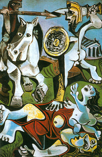 The Rape Of The Sabine Women By Pablo Picasso Art Reproduction from Wanford