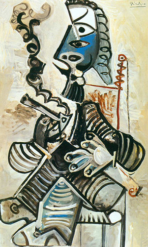 The Smoker By Pablo Picasso Art Reproduction from Wanford
