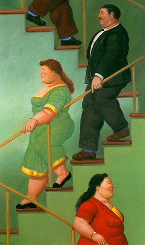The Stairs By Fernando Botero Art Reproduction from Wanford