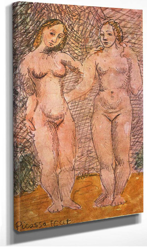 Two Nude Women 1906 2 By Pablo Picasso