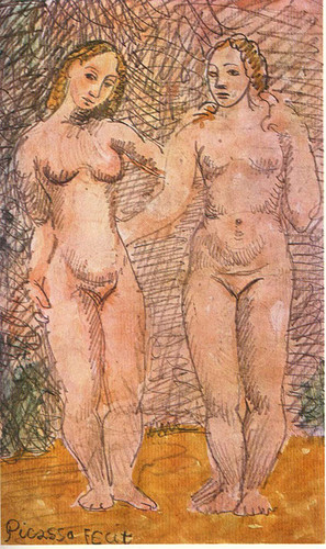 Two Nude Women 1906 2 By Pablo Picasso Art Reproduction from Wanford