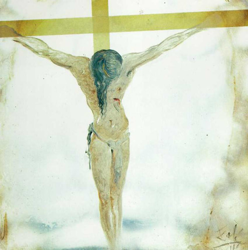 Untitled Apocalyptic Christ Christ With Flames By Salvador Dali Art Reproduction from Wanford.
