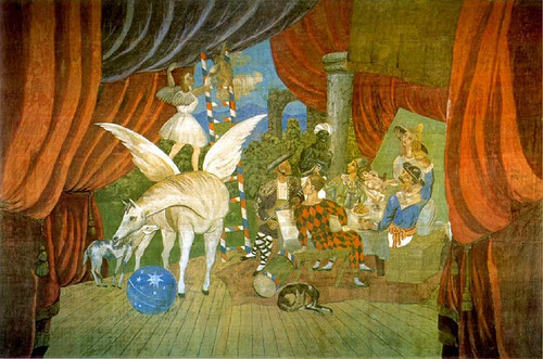 Curtain For The Ballet Parade 1917 By Pablo Picasso