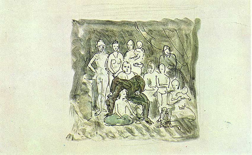 Family Of Acrobats 1905 By Pablo Picasso
