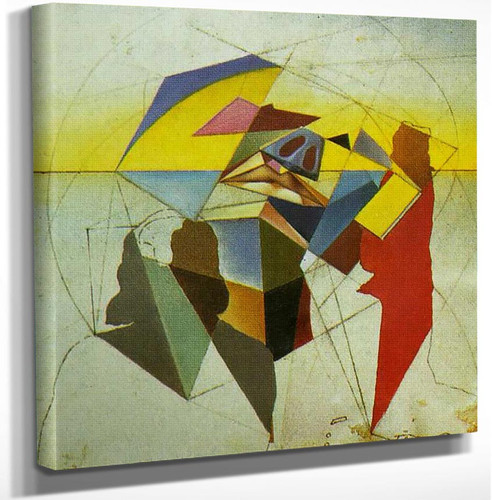 Untitled Stereoscopic Painting By Salvador Dali Art Reproduction from Wanford.