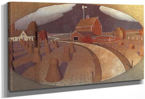 Farm View 1932 By Grant Wood