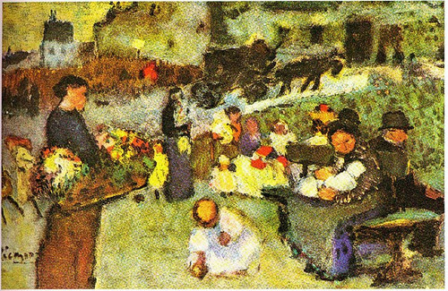 Flower Seller 1901 By Pablo Picasso