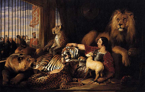 Isaac Van Amburgh And His Animals By Landseer Sir Edwin Henry