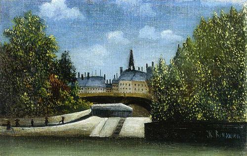 L Ile De La Cite 1900 By Henri Rousseau