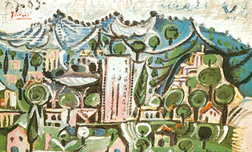 Landscape By 1 By Pablo Picasso
