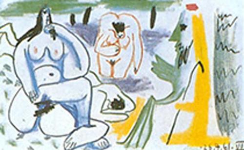 Le Dejeuner Sur Pherbe 6 By Pablo Picasso