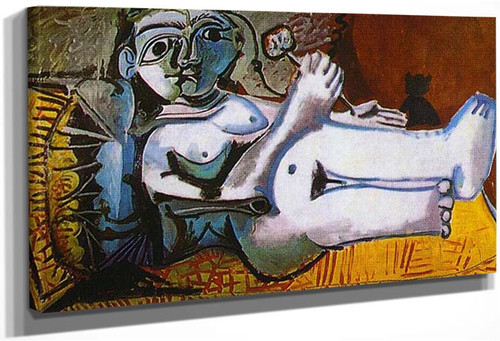 Lying Female Nude 1964 1 By Pablo Picasso