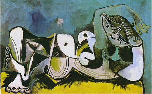 Lying Female Nude 1964 2 By Pablo Picasso