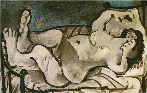 Lying Female Nude 1964 By Pablo Picasso
