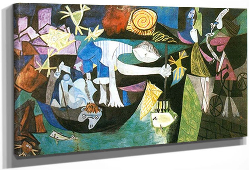Night Fishing At Antibes By 1 By Pablo Picasso