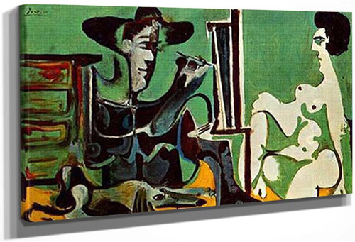 Painter And His Model By Pablo Picasso