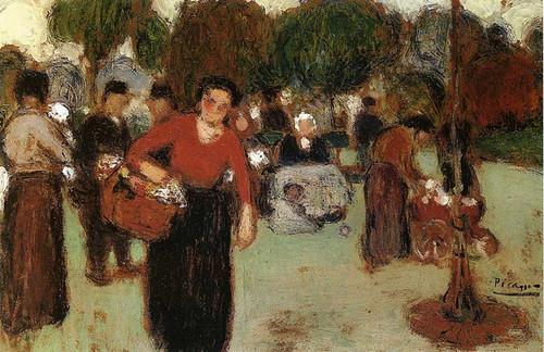 Public Garden 1901 By Pablo Picasso