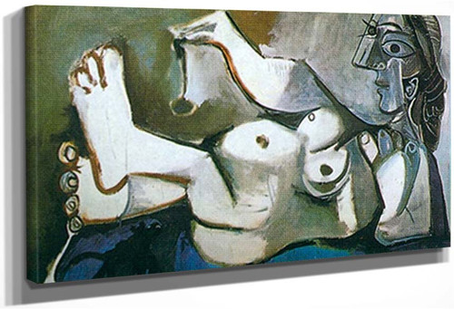 Reclining Nude Playing With A Cat 1 By 1 By Pablo Picasso