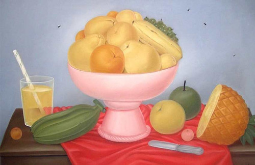 Still Life With Fruit7 By Fernando Botero