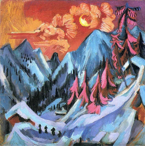 Winter Landscape In Moonlight 1919 By Ernst Ludwig Kirchner Art Reproduction from Wanford.