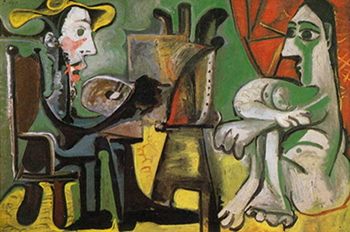The Artist And His Model 5 By 2 By Pablo Picasso