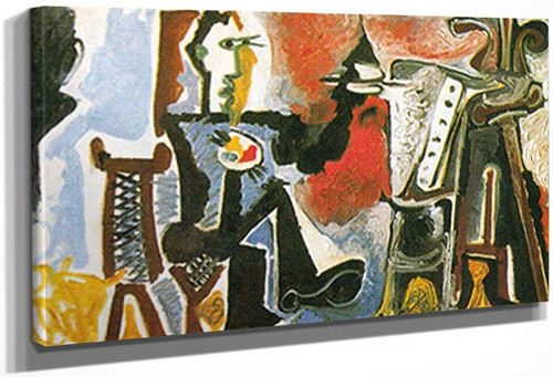 The Artist In His Studio By Pablo Picasso