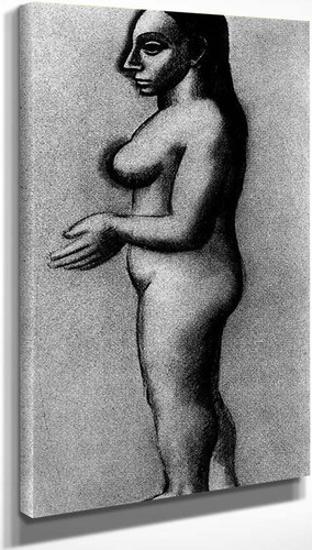 Female Nude In Profile 1906 By Pablo Picasso
