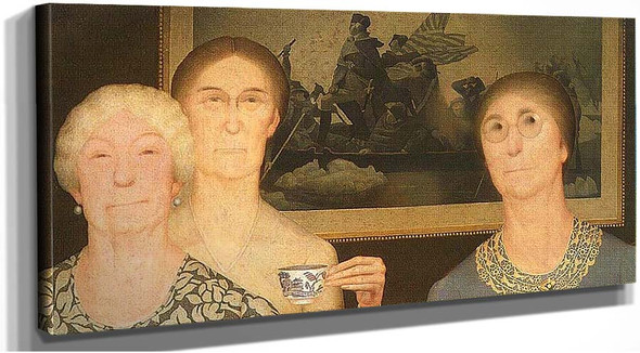 Daughters Of Revolution 1932 By Grant Wood