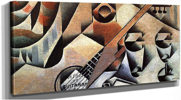 Guitar And Glasses Banjo And Glasses 1912 By Juan Gris