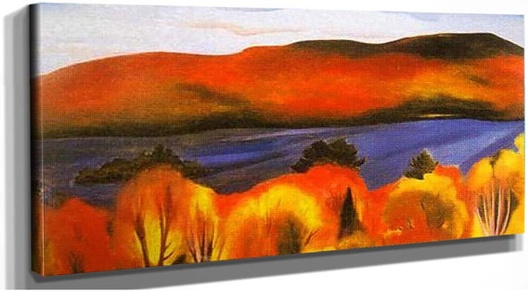 Lake George Autumn By Georgia O Keeffe
