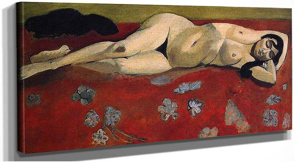 Sleeping Nude On A Red Background 1916 By Henri Matisse