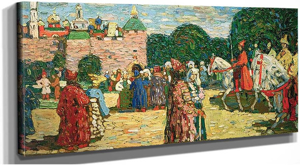 Sunday By Old Russian By 1904 By Wassily Kandinsky