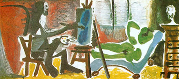 The Artist And His Model By By Pablo Picasso