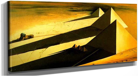 The Pyramids And The Sphynx Of Gizeh By Salvador Dali