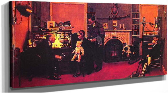 Visits A Country Doctor 1947 By Norman Rockwell