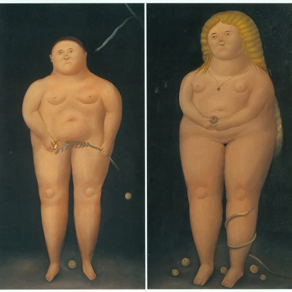 Adam And Eve by Botero Print