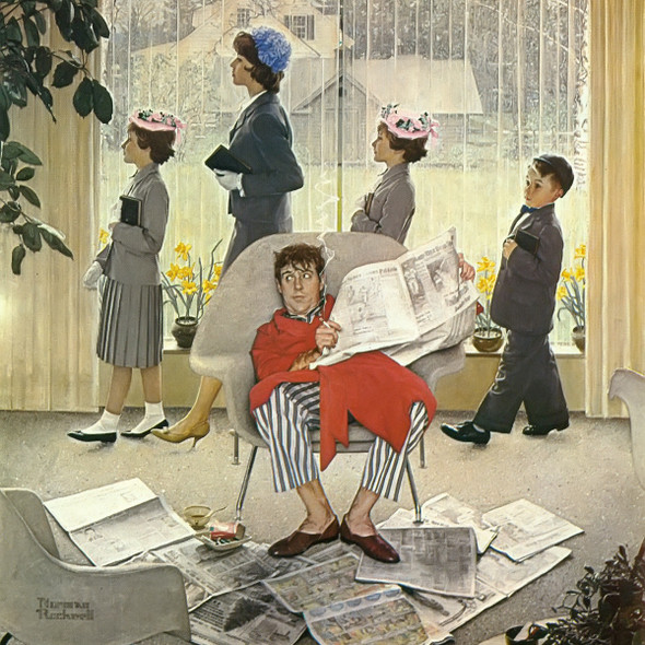 Easter Morning by Norman Rockwell Print