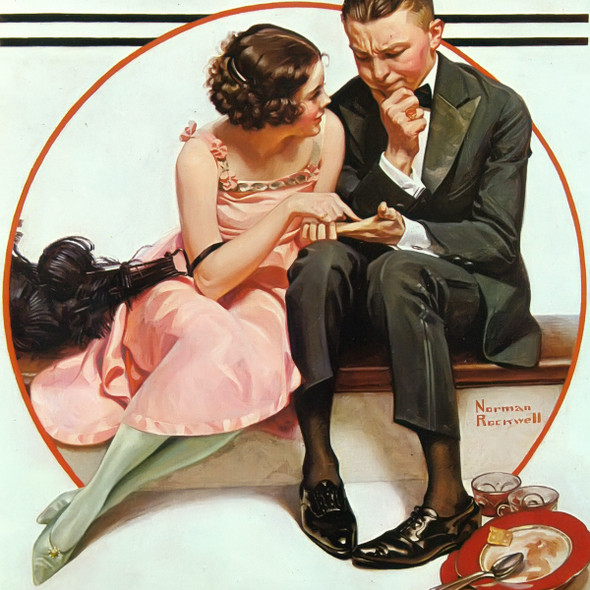 Fortune Teller by Norman Rockwell Print