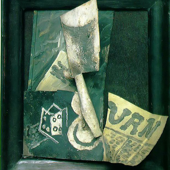 Glass And Newspaper 20x19 by Picasso Print
