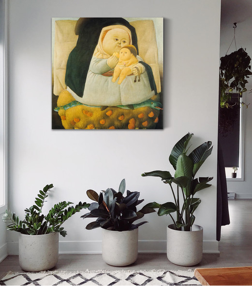 Madonna With Child by Botero